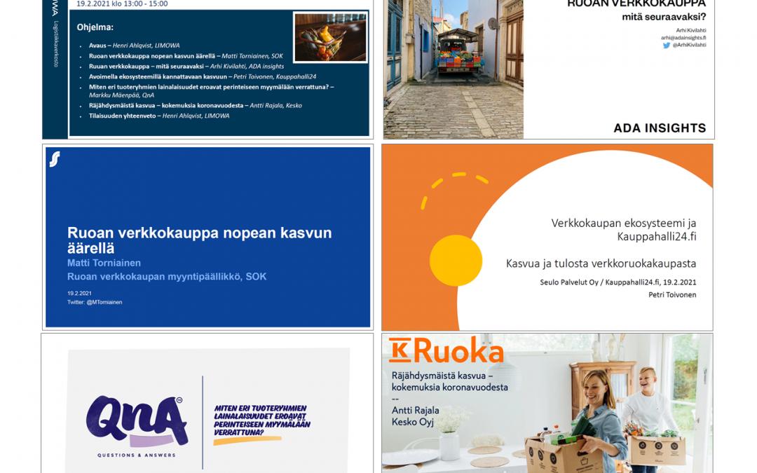 Tallenne LIMOWA Live: Ruuan verkkokauppa – vuosi koronaa, mitä opittiin? 19.2.2021