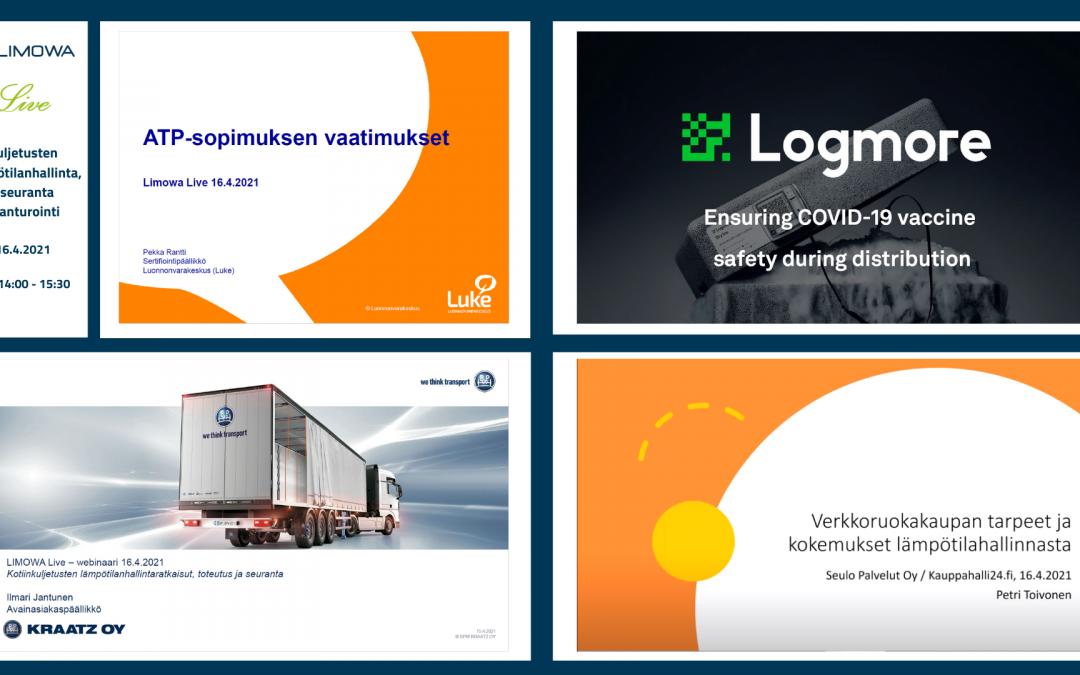 Tallenne: LIMOWA Live – Kuljetusten lämpötilanhallinta, -seuranta ja anturointi 16.4.2021